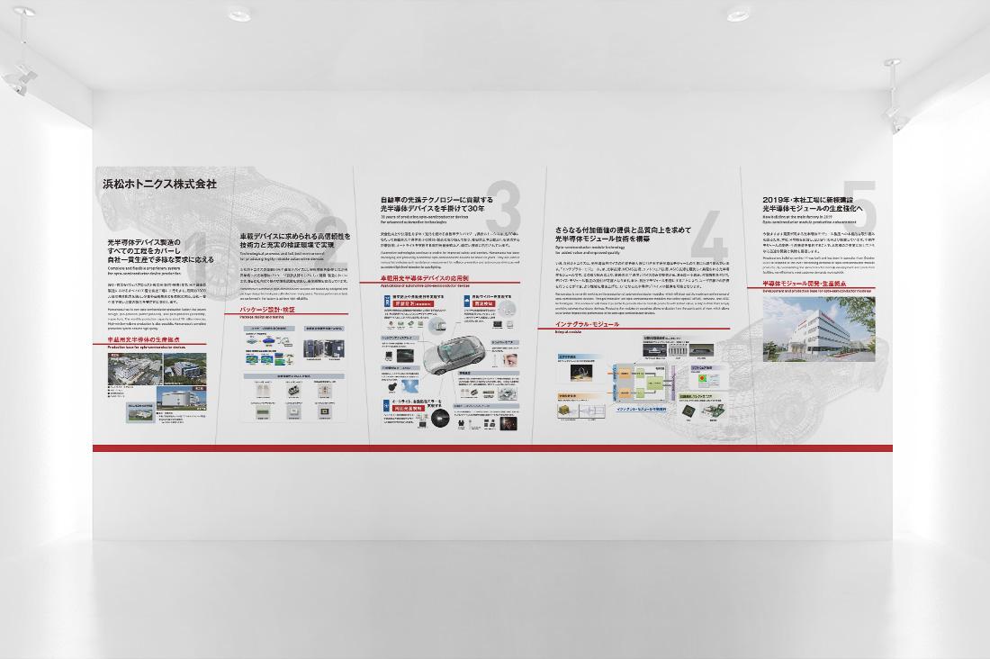 浜松ホトニクス 展示会用壁面のキービジュアル